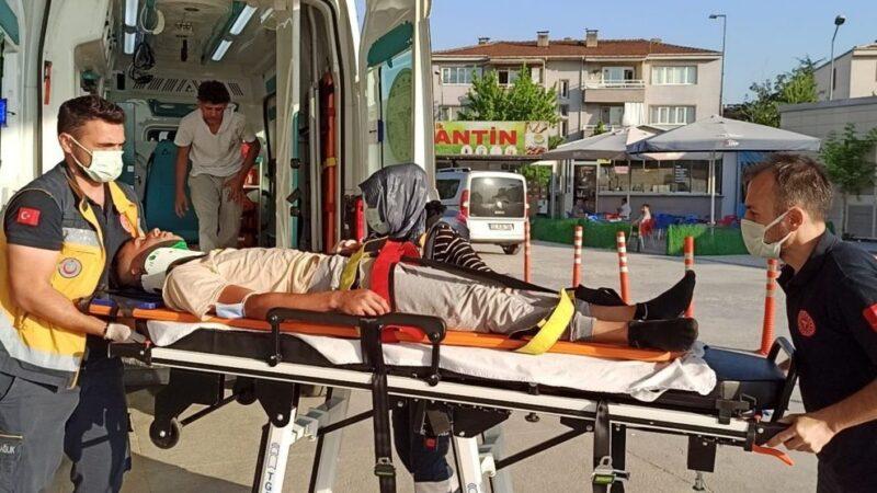 Bursa'da elektrikli bisiklet yayaya çarptı! Yaralılar var