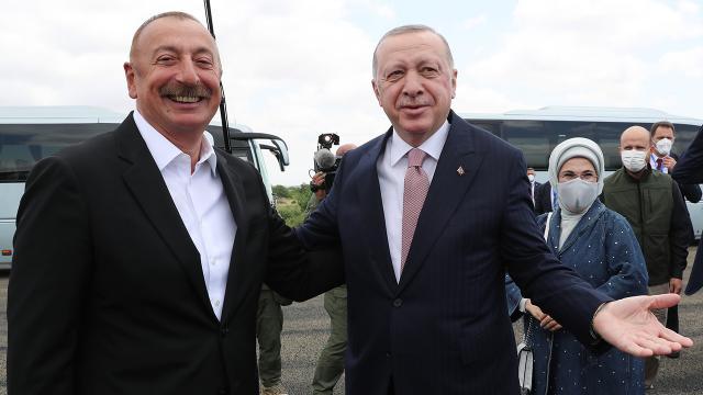 Erdoğan ve Aliyev Fuzuli'de