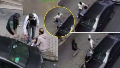 Bu nasıl vicdan: Hamile eşini sokak ortasında dövdü...