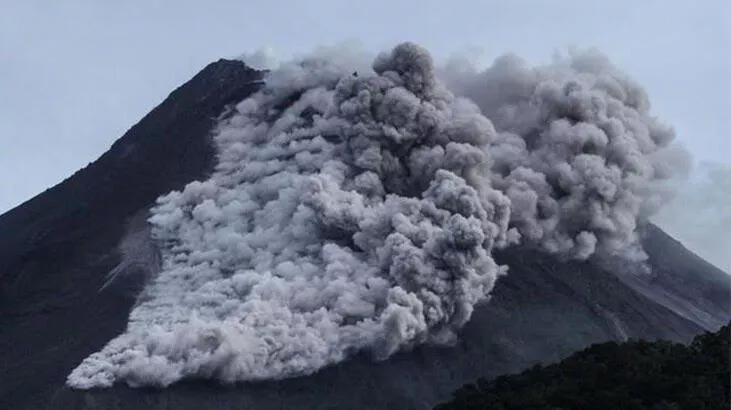 Merapi Yanardağı patladı! 03.16'da…