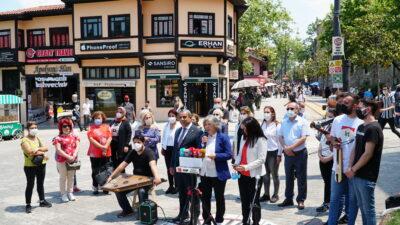 Bursa'da müzisyenlere CHP'den destek