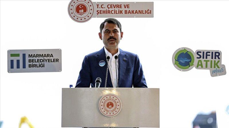 Bakan Kurum'dan flaş Marmara açıklaması: 2021 sonuna kadar…