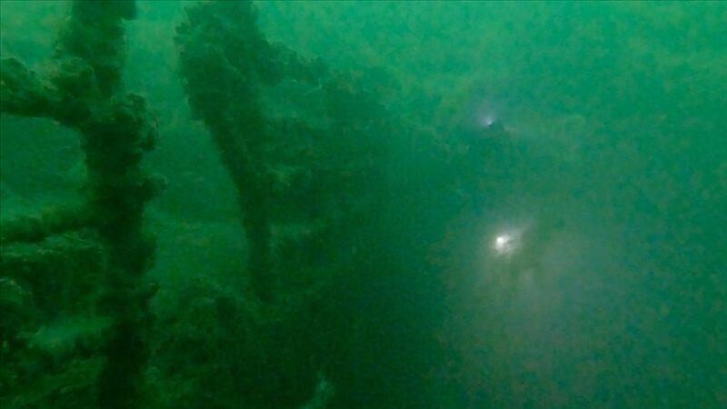 Su altındaki 'emektar vapur' müsilajla kaplandı