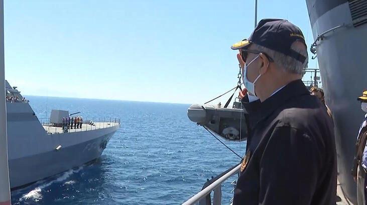 Bakan Akar, 'Denizkurdu 2021 Tatbikatı'nı takip etti