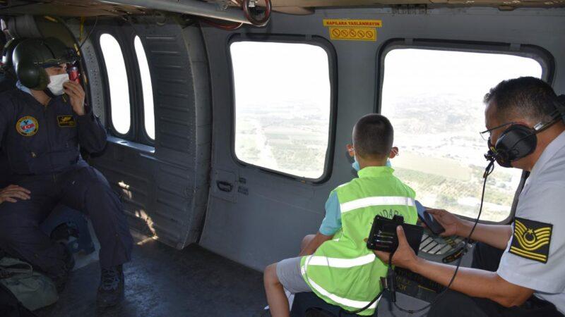 Ali'nin helikopter hayali gerçek oldu