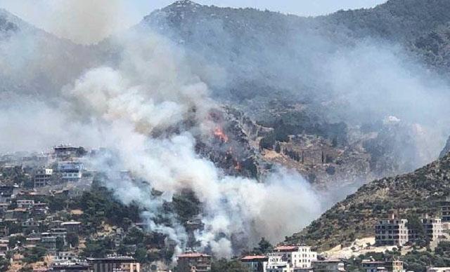 Hatay'da orman yangını! Yerleşim yerlerine sıçradı
