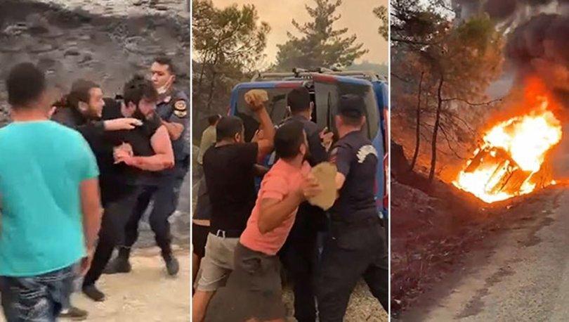 Yangın bölgesinde 'ormanı yaktılar' infiali! Öfkeli kalabalık linç etmek istedi