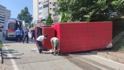 Bursa'da kamyonun freni patladı! Şoförün parmağı koptu