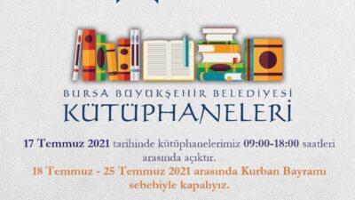 Bursalılar dikkat! 18-25 Temmuz tarihlerinde kapalı olacak…