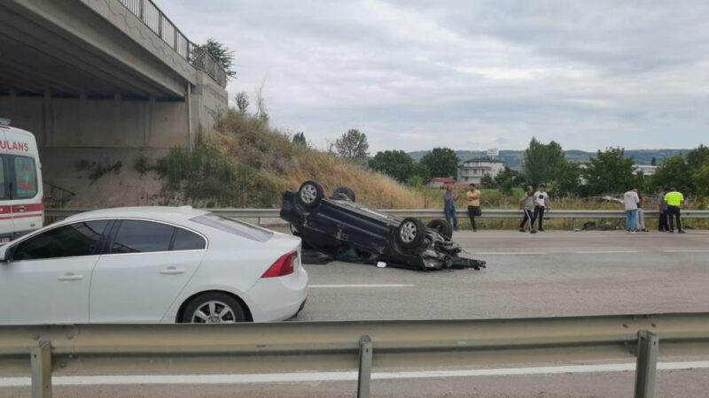Bursa-Ankara yolunda kaza: Yaralılar var
