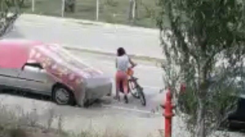 Bursa'da amatör hırsız kameraya böyle yakalandı