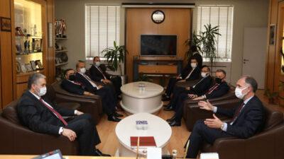 MÜSİAD Genel Başkanı Kaan'dan Başkan Taban'a ziyaret