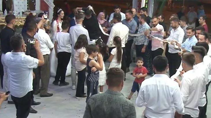 Düğünde şaşırtan anlar böyle görüntülendi