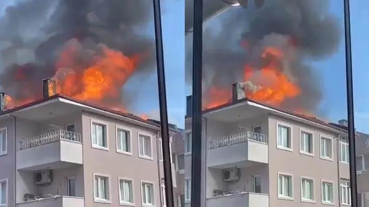 10 katlı binada korkutan yangın! Ekipler sevk edildi