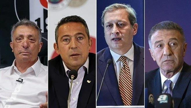 4 büyük kulübün başkanı ortak yayına katıldı