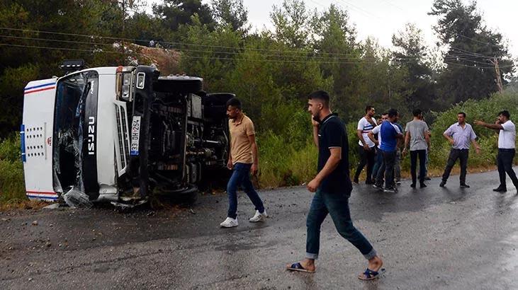 Mevsimlik işçileri taşıyan kamyonet devrildi! Çok sayıda yaralı var