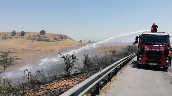 Mersin'in Toroslar ve Tarsus ilçelerinde çıkan yangınlar söndürüldü
