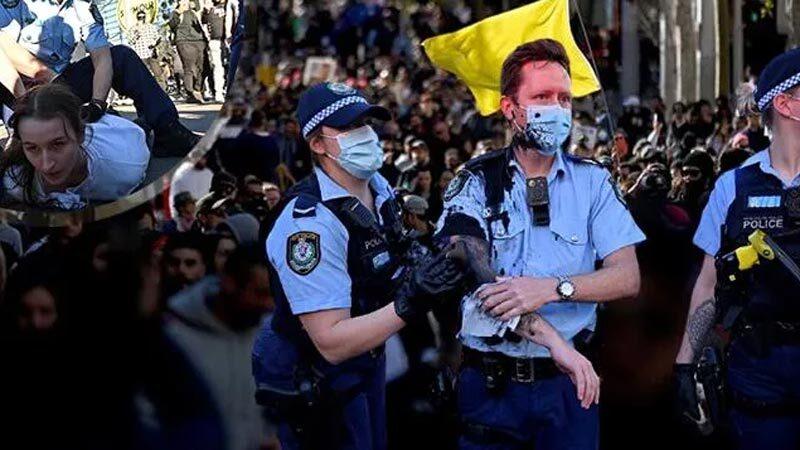 Avustralya'da Delta protestosu: Çok sayıda gözaltı!