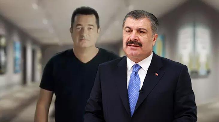 Sağlık Bakanı Koca'dan Acun Ilıcalı ve Ahmet Özhan paylaşımı