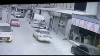 Bursa'da motosiklet hırsızlığı güvenlik kamerasına yansıdı
