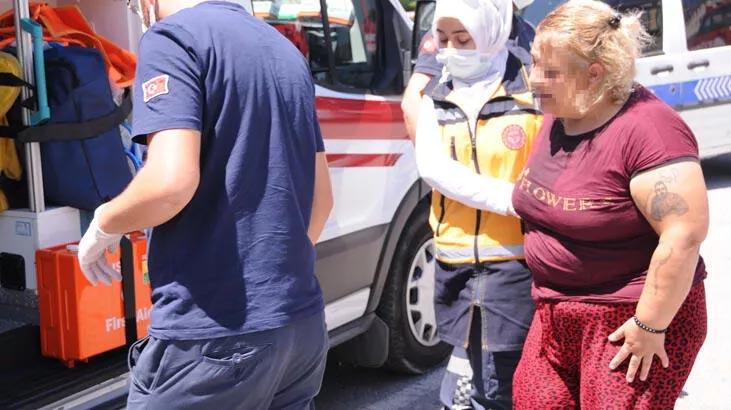 Oğlu tarafından dövülüp rehin alınan kadını polis kurtardı
