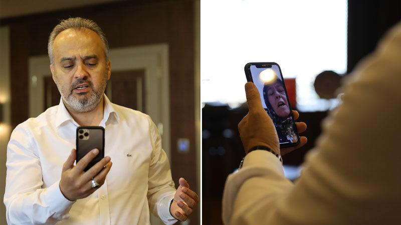 Tüm Türkiye'yi ağlatan Gülsüm Teyze'ye Başkan Aktaş'tan moral