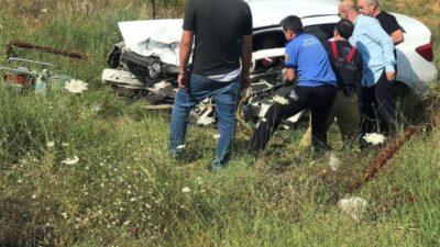 Bursa'da korkutan kaza! Bu araçtan sağ çıktılar…