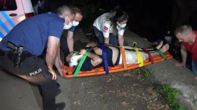 Bursa'da alkol alırken 4 metre yükseklikten dereye düştü