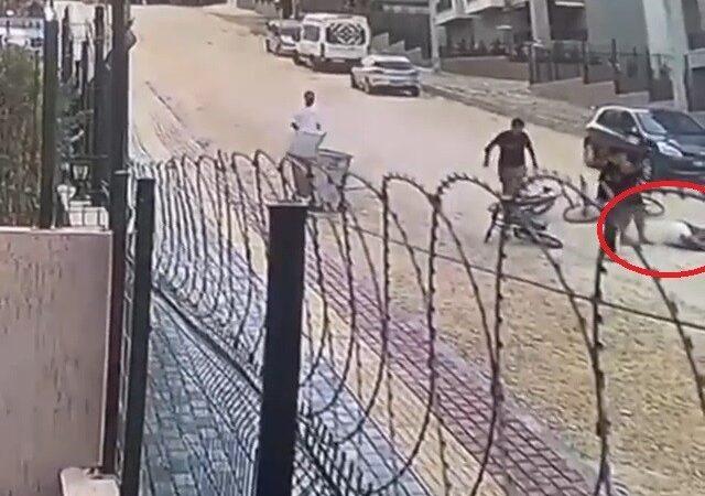 Bursa'da korkutan kaza! Taşlı yolda metrelerce savruldu