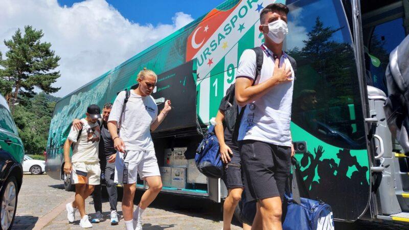 Bursaspor ikinci etap kamp için Bolu'ya gitti
