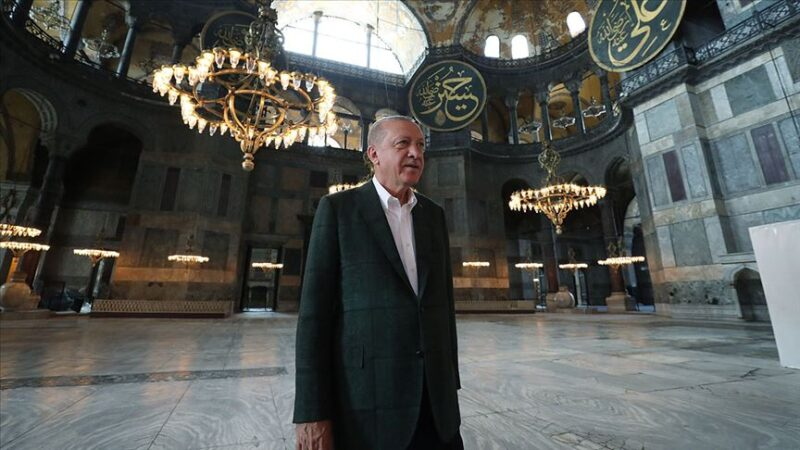 Cumhurbaşkanı Erdoğan'ndan Ayasofya mesajı