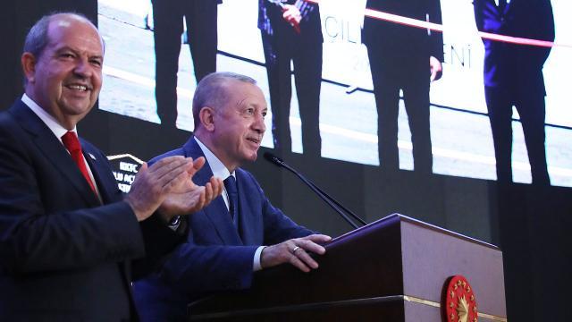 Cumhurbaşkanı Erdoğan: Kuzey Kıbrıs artık ayağa kalkıyor