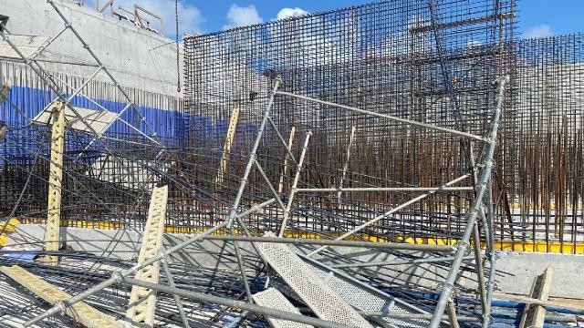 İSKİ inşaatında iskele çöktü: 3 yaralı