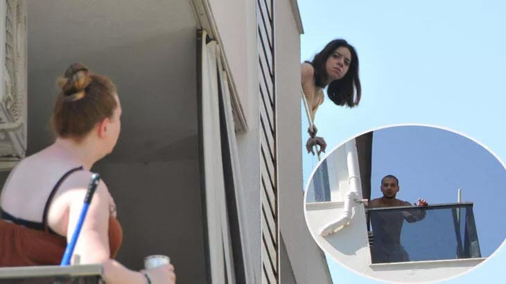 Yer: Antalya! Balkona çıktılar, şaşkına döndüler