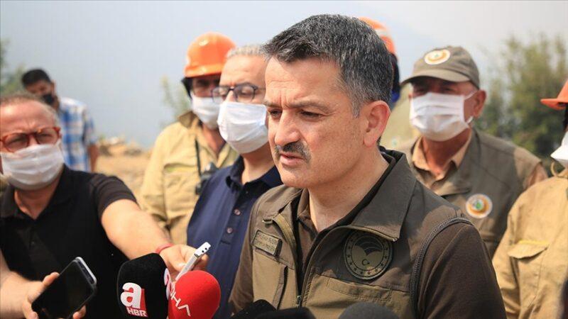 Bakan Pakdemirli'den Manavgat'taki yangınla ilgili açıklama