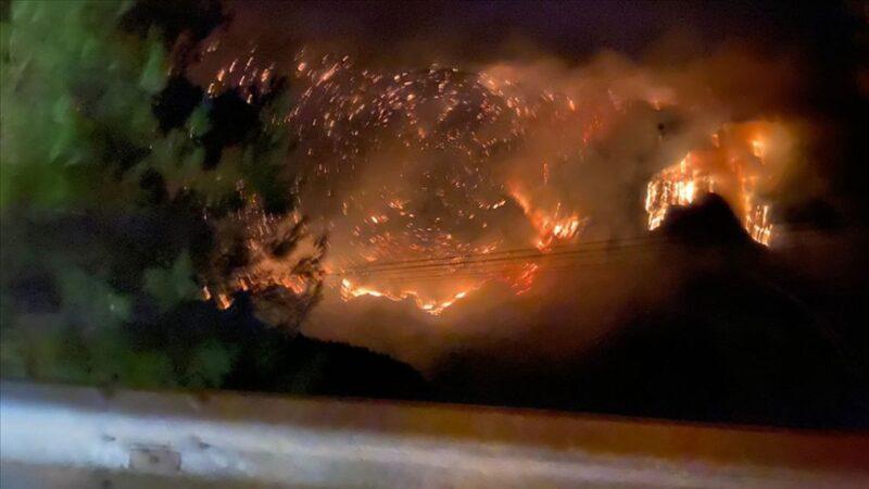 Antalya Gündoğmuş'taki orman yangını Alanya'ya sıçradı