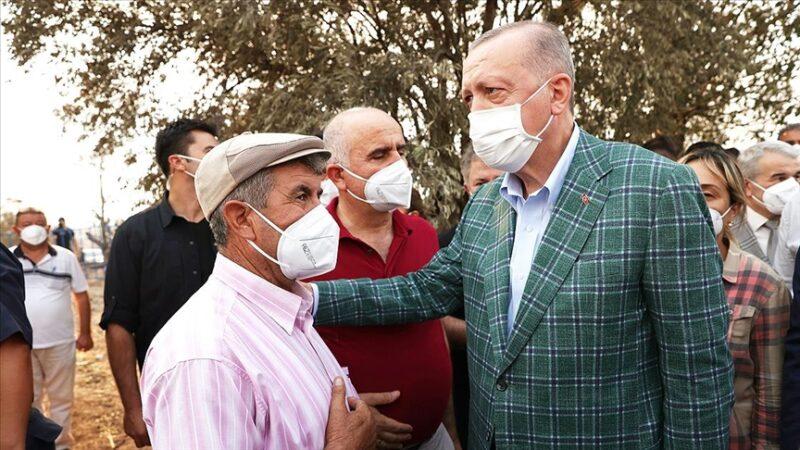 Cumhurbaşkanı Erdoğan'dan afetzedelere ziyaret