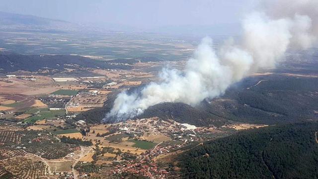 İzmir'de orman yangını! Havadan ve karadan müdahale