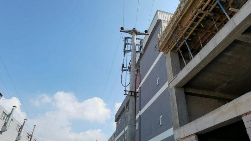 Bursa'da inşaat halindeki fabrikada feci olay