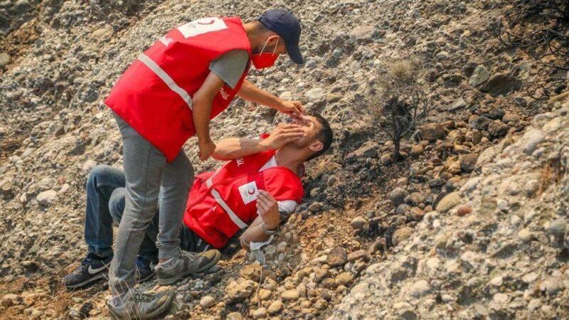 Orman yangınında gönüllülerin asılsız ihbar mesaisi