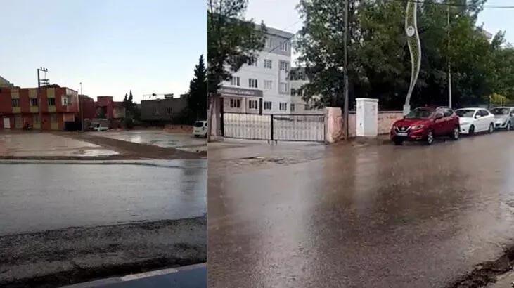 Aniden bastırdı! Sokaklar göle döndü