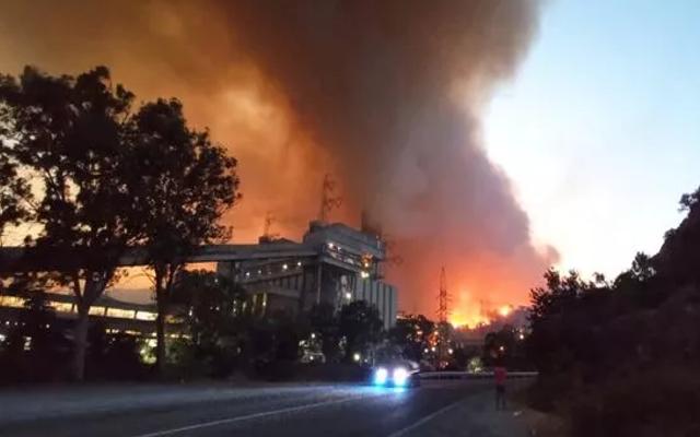 Korkulan oldu! Alevler Termik Santrale sıçradı