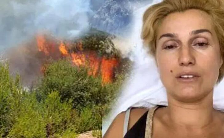 Manavgat yangını sonrası sinir krizi geçiren Tuğba Özay'a tepki yağıyor
