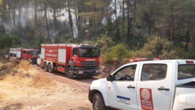 Marmaris'te iki köyü kurtaran Bursa İtfaiyesi'ne teşekkür var