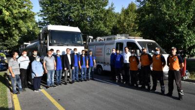 Osmangazi'den yangın bölgesine yardım eli