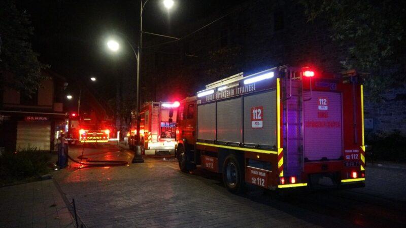 Bursa'da gece yarısı korku dolu anlar
