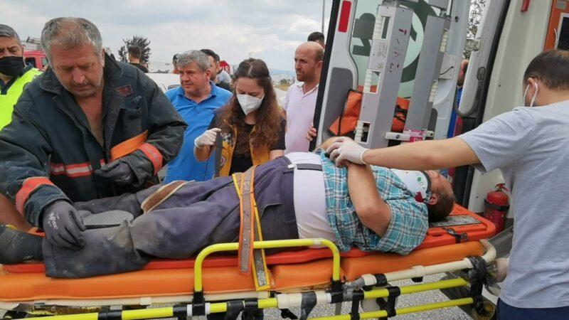 Bursa'da kazada yaralandı, oğlunu sayıkladı