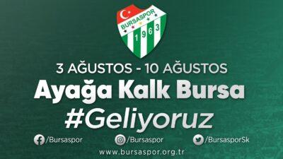 Bursaspor'dan destek kampanyası duyurusu: 'Ayağa kalk Bursa'