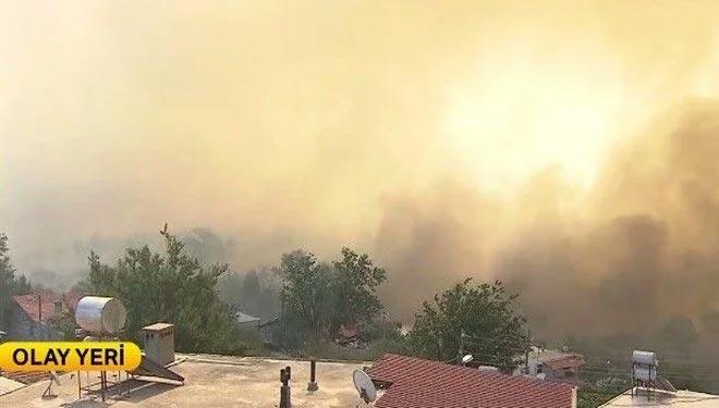 Yangınlar 2 kentte devam ediyor: Manavgat Sırtköy'de alevler evlere yaklaşıyor