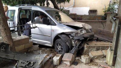 Çocuklarıyla kaza yapan sürücü: Biraz heyecan yaşayalım dedik